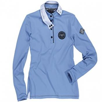 euro-star; Ladies Shirt Petra- steel blue